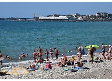 Собственный пляж| Санаторий «МВО-Сухум »| Абхазия Сухум